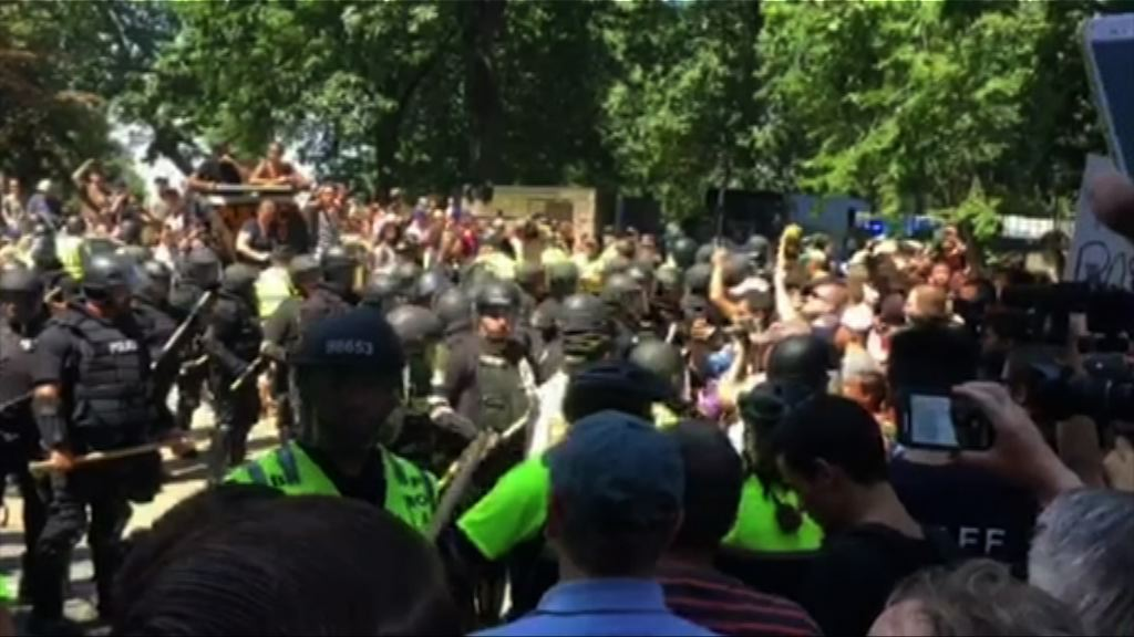 波士頓左翼人士抗議右翼集會 33人被捕