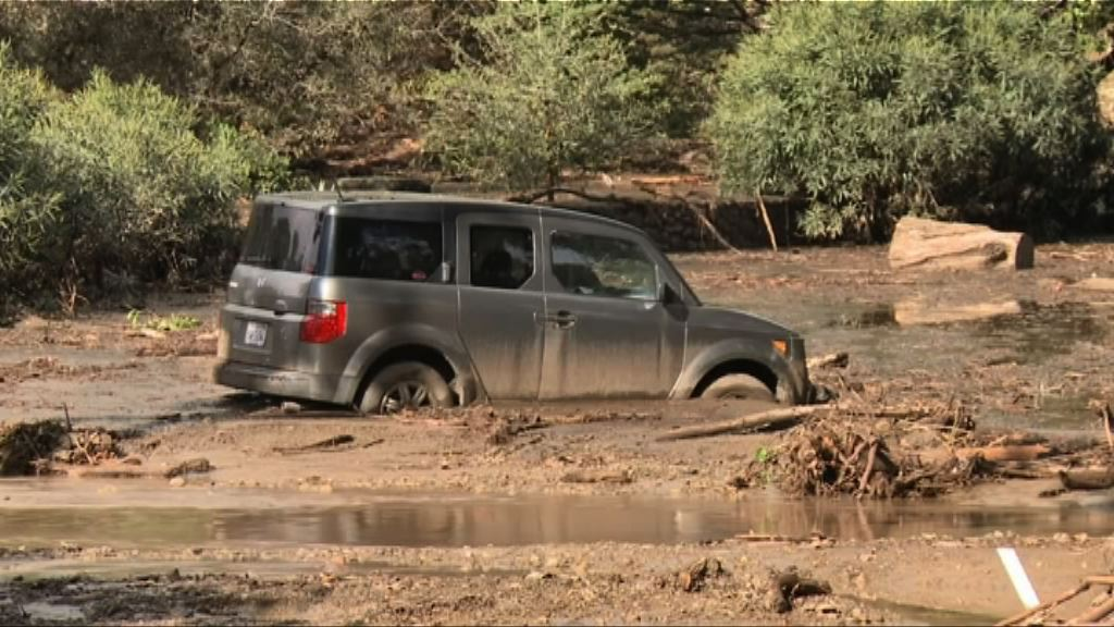 南加州暴雨引發泥石流最少13人死