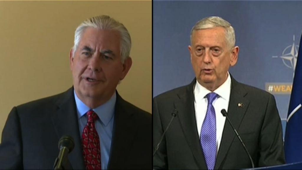 美國務卿及防長稱無意推翻北韓政權