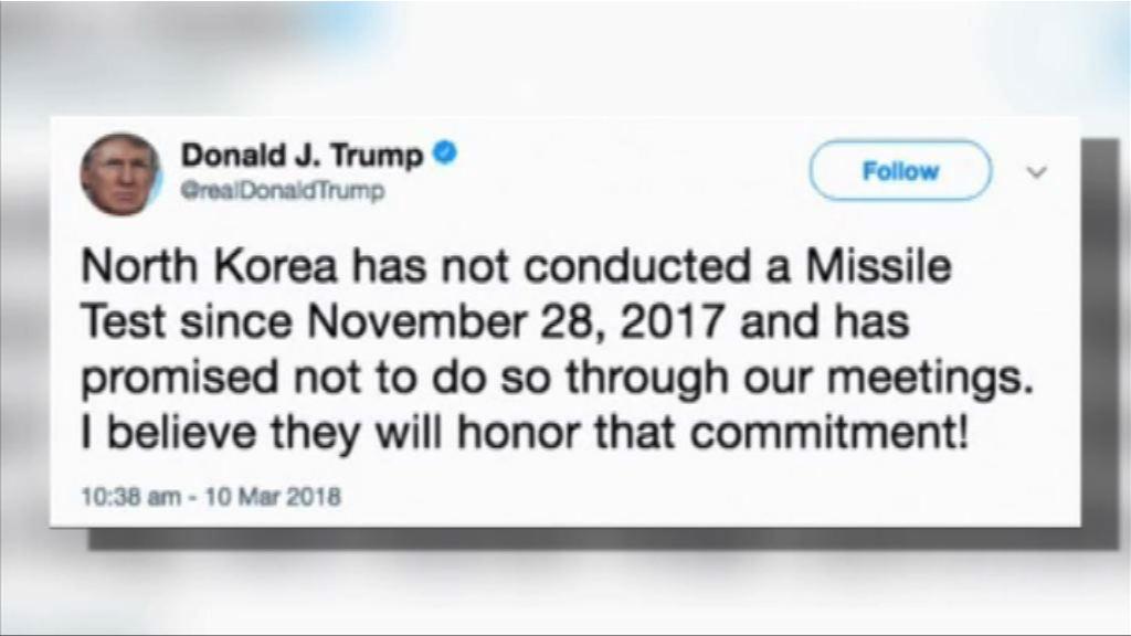 特朗普相信北韓會守承諾停射導彈