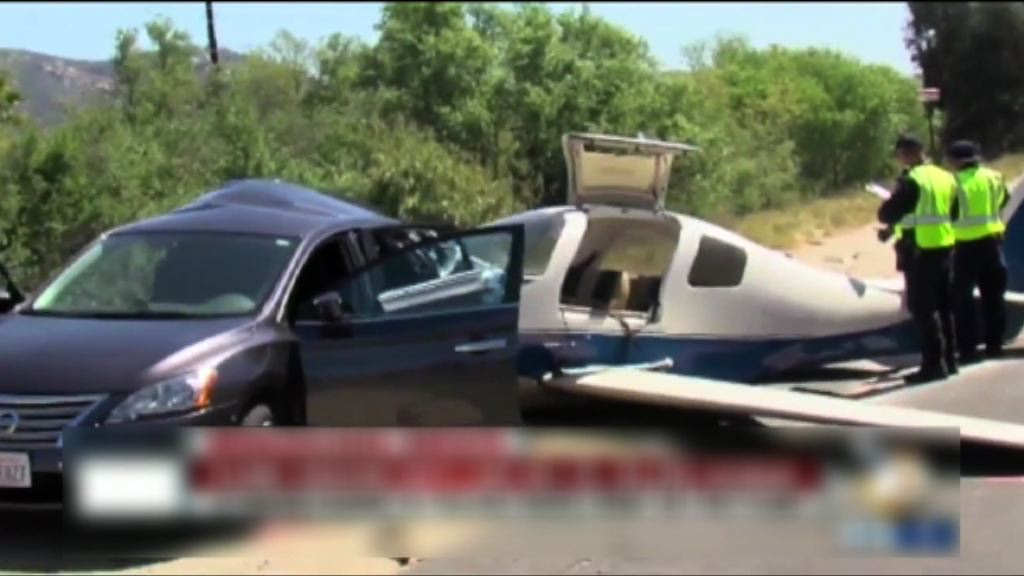 美國小型飛機撞公路汽車一死五傷
