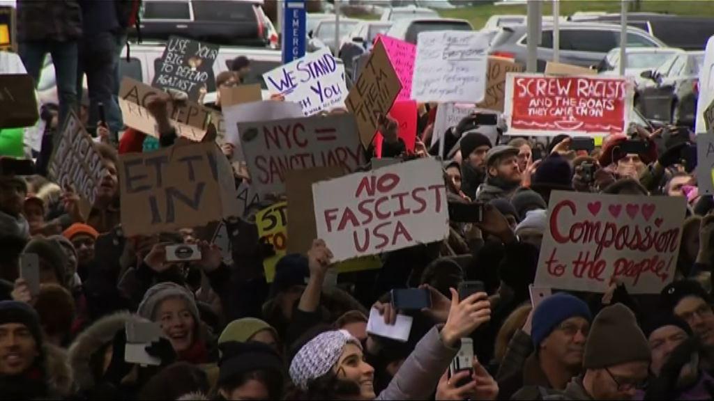 示威者促特朗普收容難民