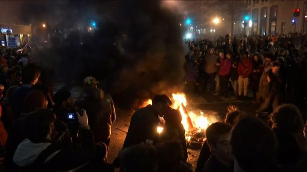 華盛頓反特朗普示威持續至晚上