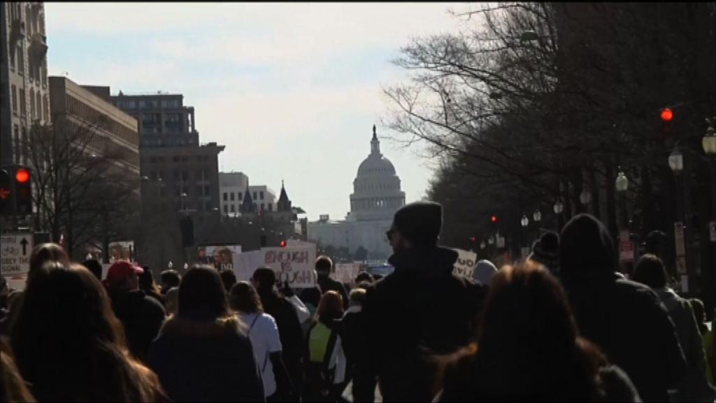 華盛頓大型集會要求加強槍管 多國聲援