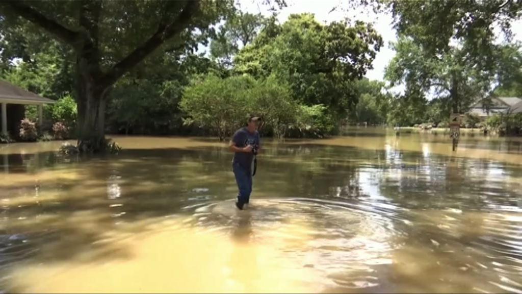 美國路州水災災民回家檢視損失