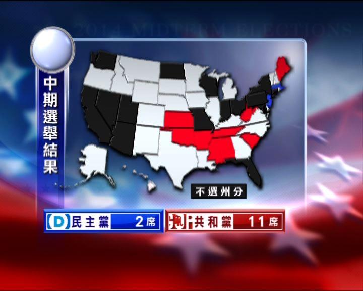 美國中期選舉部分州份完成點票