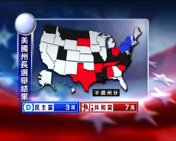 州長選舉共和黨領先民主黨