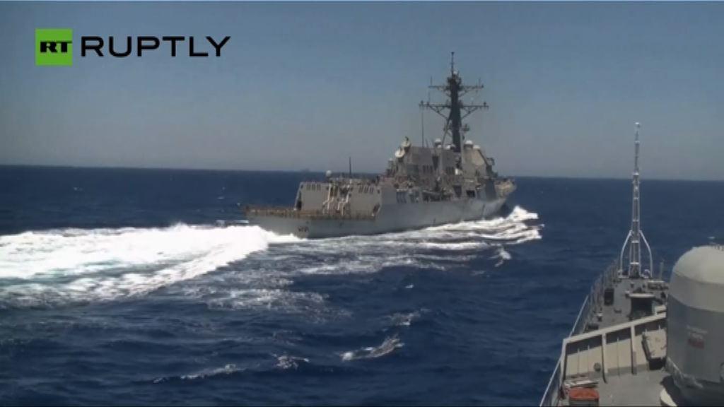 美俄互相指摘對方軍艦阻礙航行