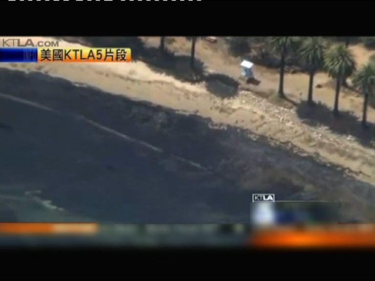 加州油管破裂漏油造成生態災難