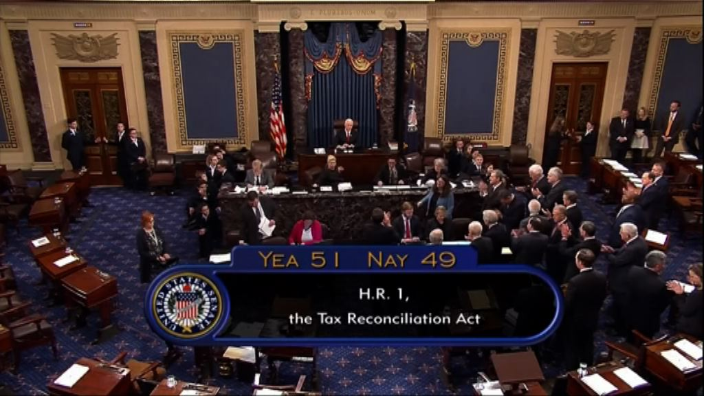 美國參議院通過減稅法案