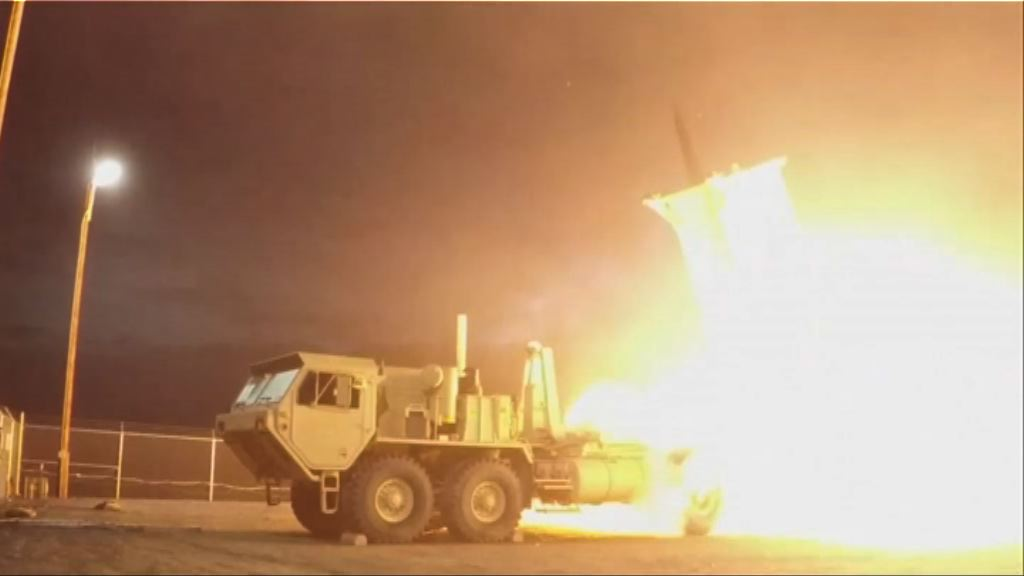 美軍再次成功測試薩德系統攔截中程導彈