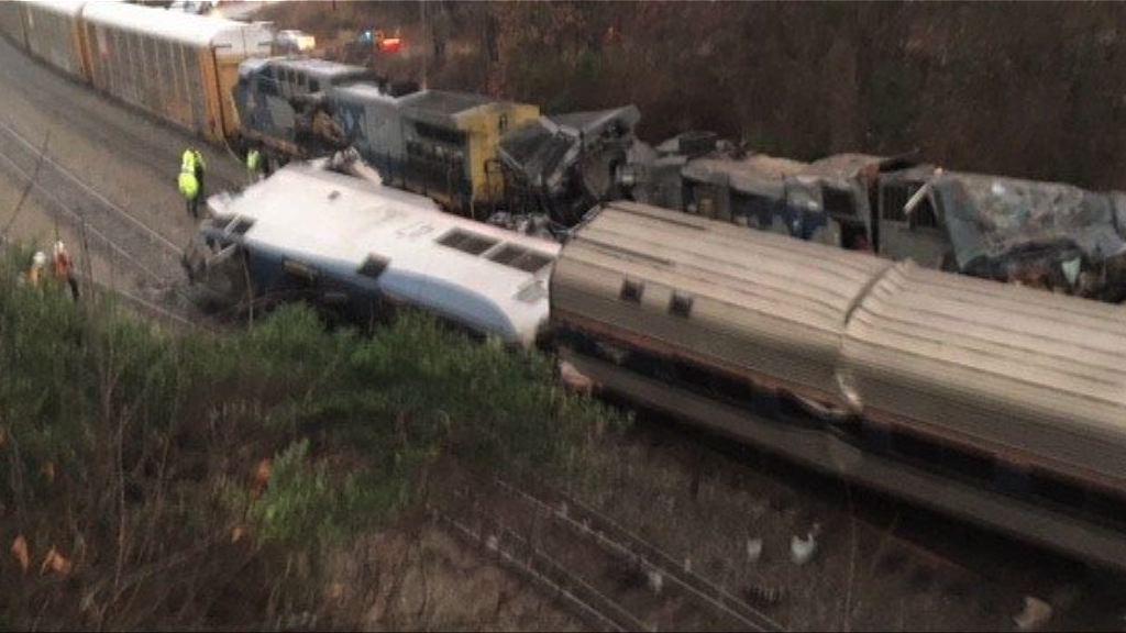 美國南卡州載客火車與貨運列車相撞至少兩死