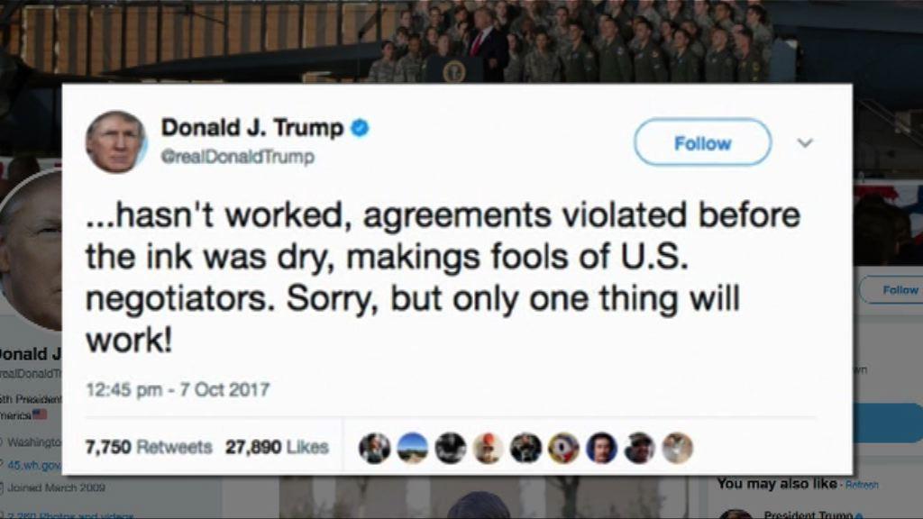 特朗普指對付北韓僅一做法可行
