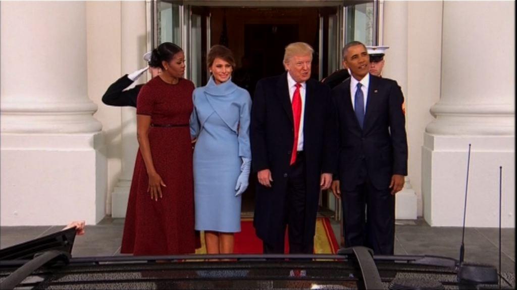 特朗普就職前與奧巴馬夫婦茶敘