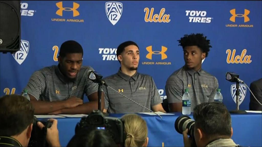 美加州大學三籃球員涉偷竊道歉