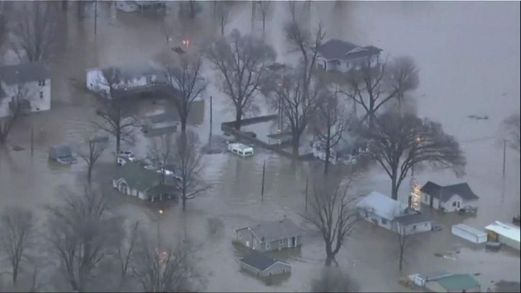美國中西部水災 影響逾900萬人