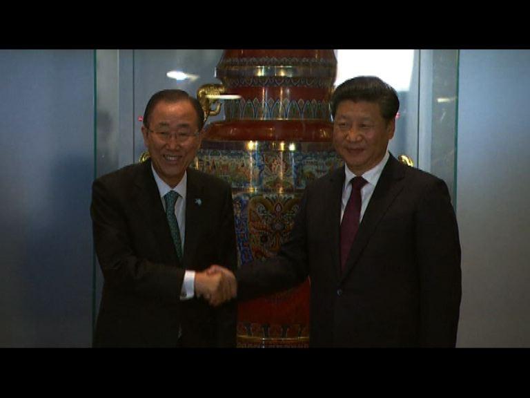 中國向聯合國贈送一座和平尊