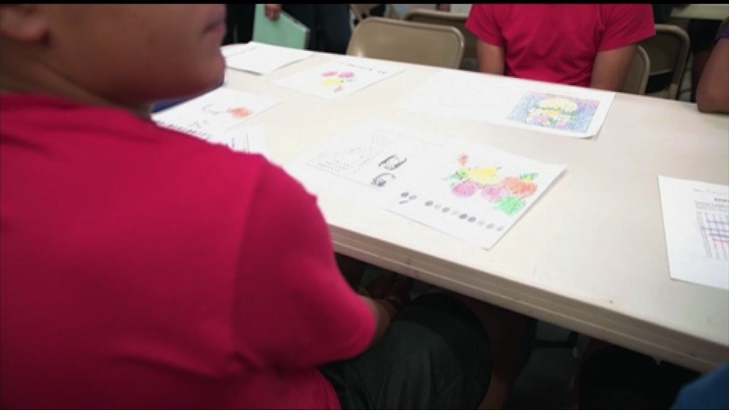 美國非法入境兒童被安置在收容中心