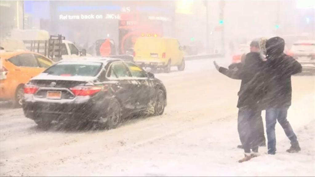 暴風雪襲美國東岸 十多人死數千航班取消