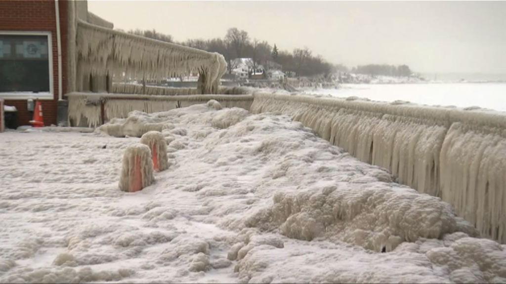 美國北部持續寒冷 有地區錄破紀錄低溫