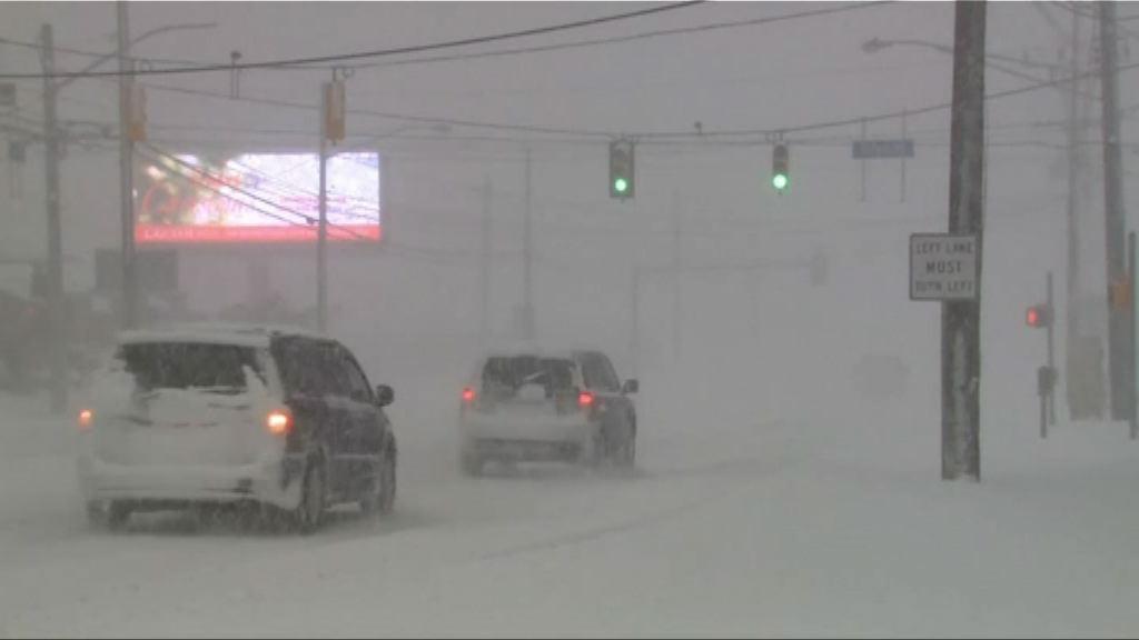 美國北部廣泛地區天氣嚴寒