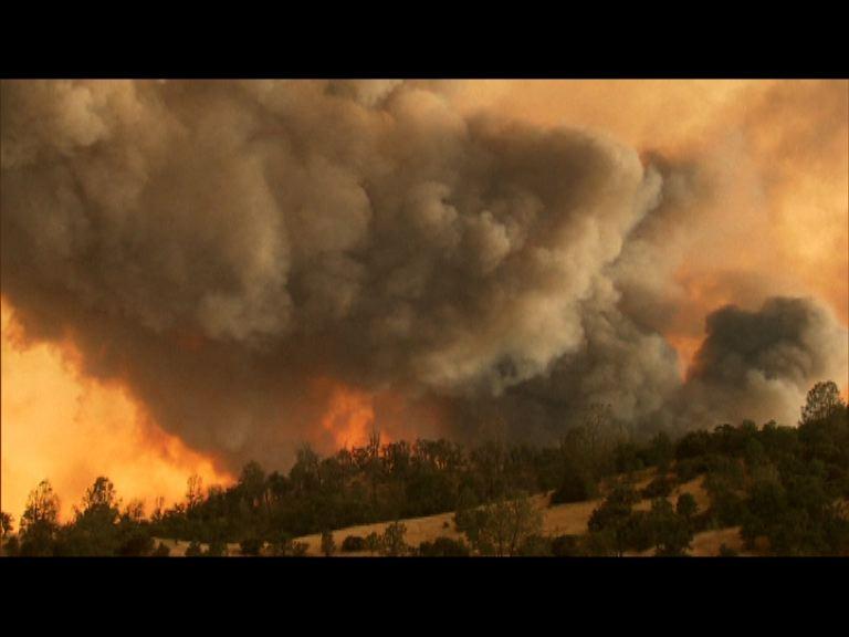 美國加州北部山火仍未受控