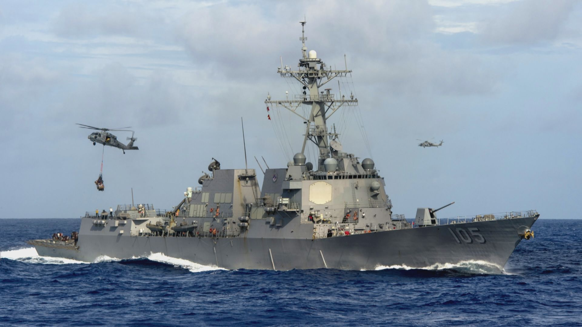 美加軍艦聯合穿越台海 解放軍斥危害和平穩定