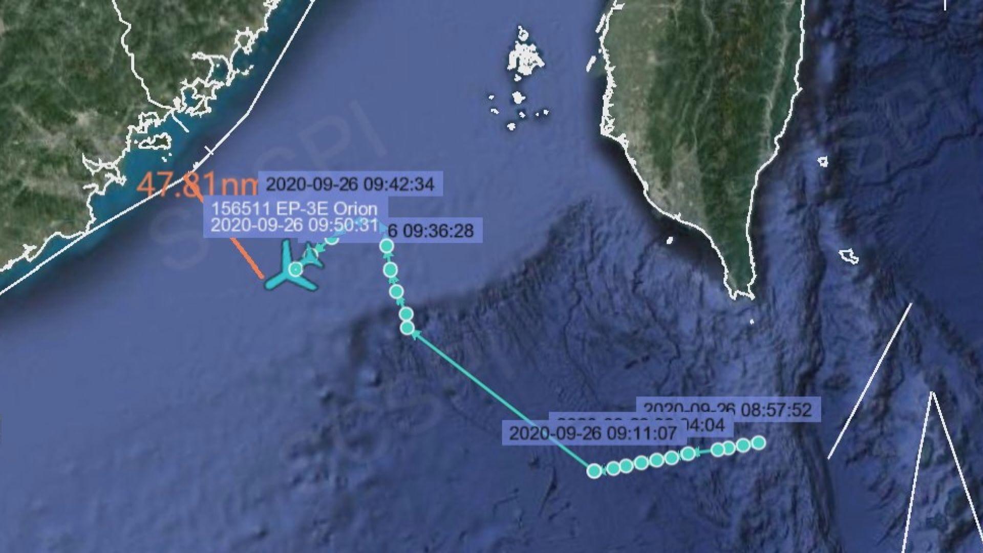 美軍機被指曾逼近廣東省沿岸不足50浬