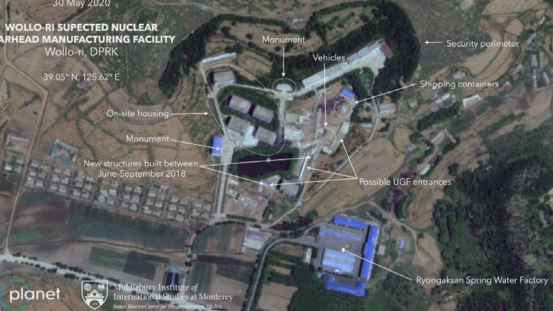 衛星拍到相信是未曾公開的北韓核設施