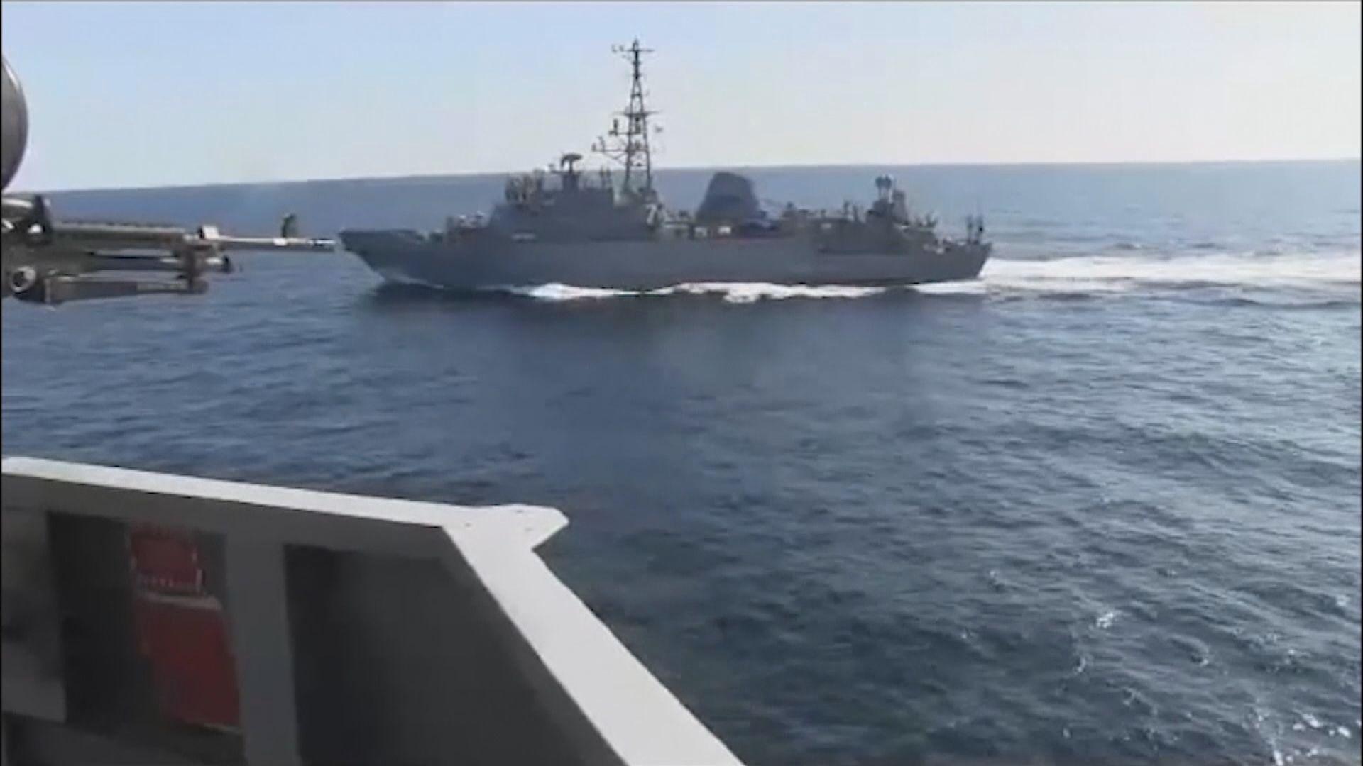 美俄軍艦阿拉伯海相遇 一度僅距五十多米