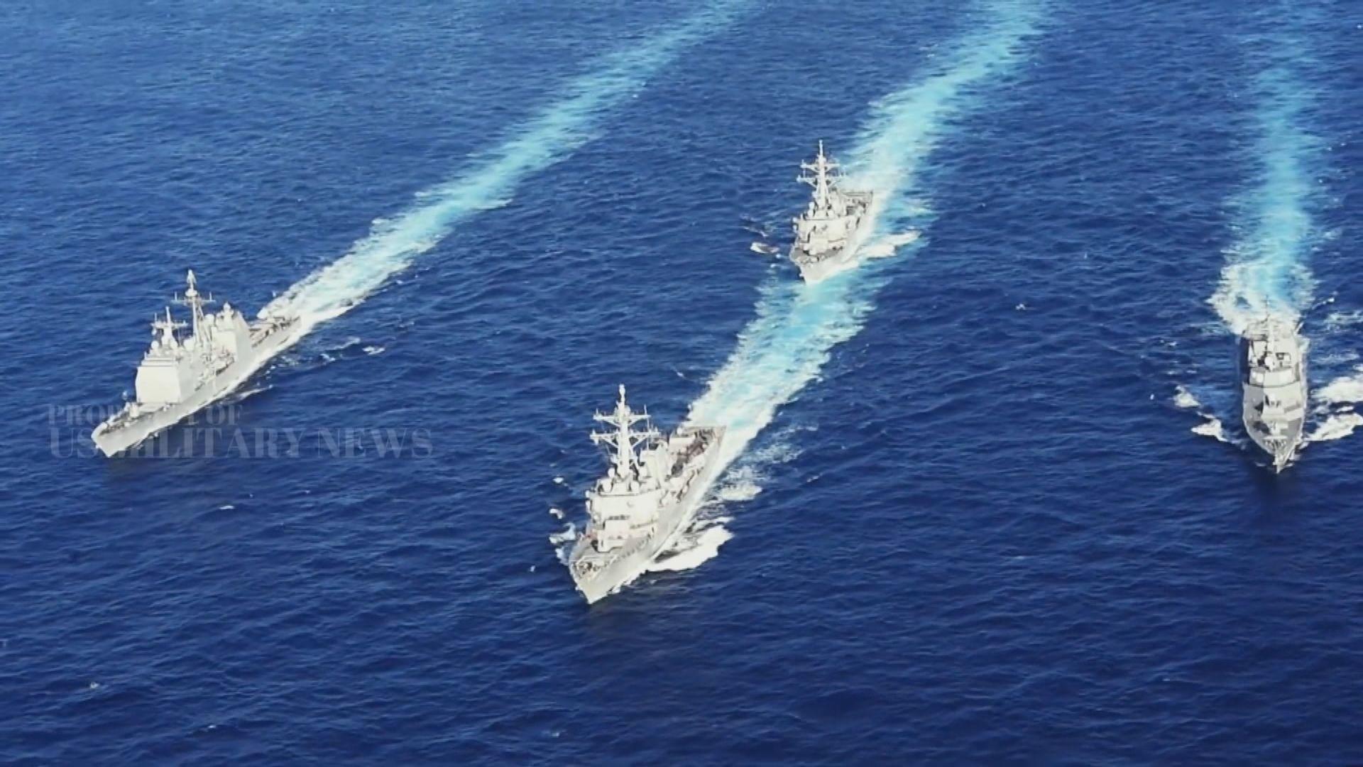 美軍軍艦再度穿越台灣海峽