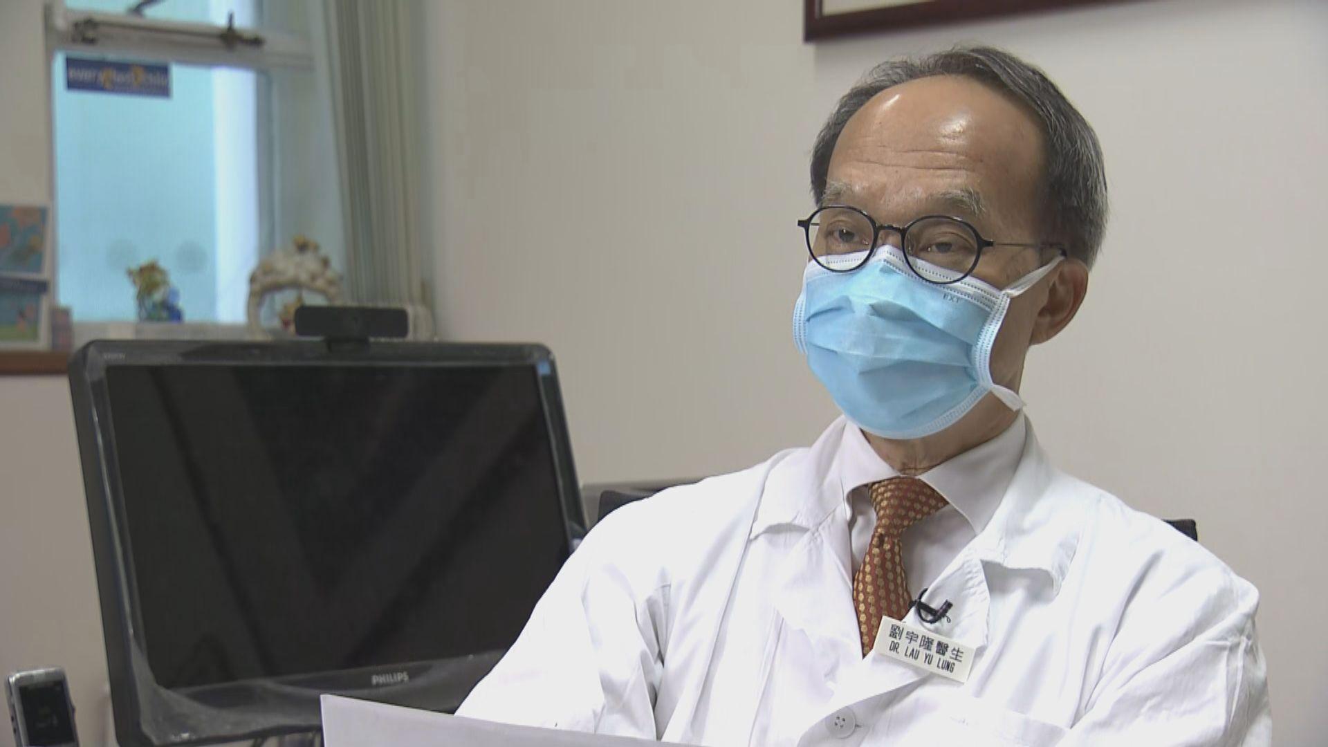 劉宇隆倡科興疫苗接種年齡降至12歲 為長者醫護等打第三針