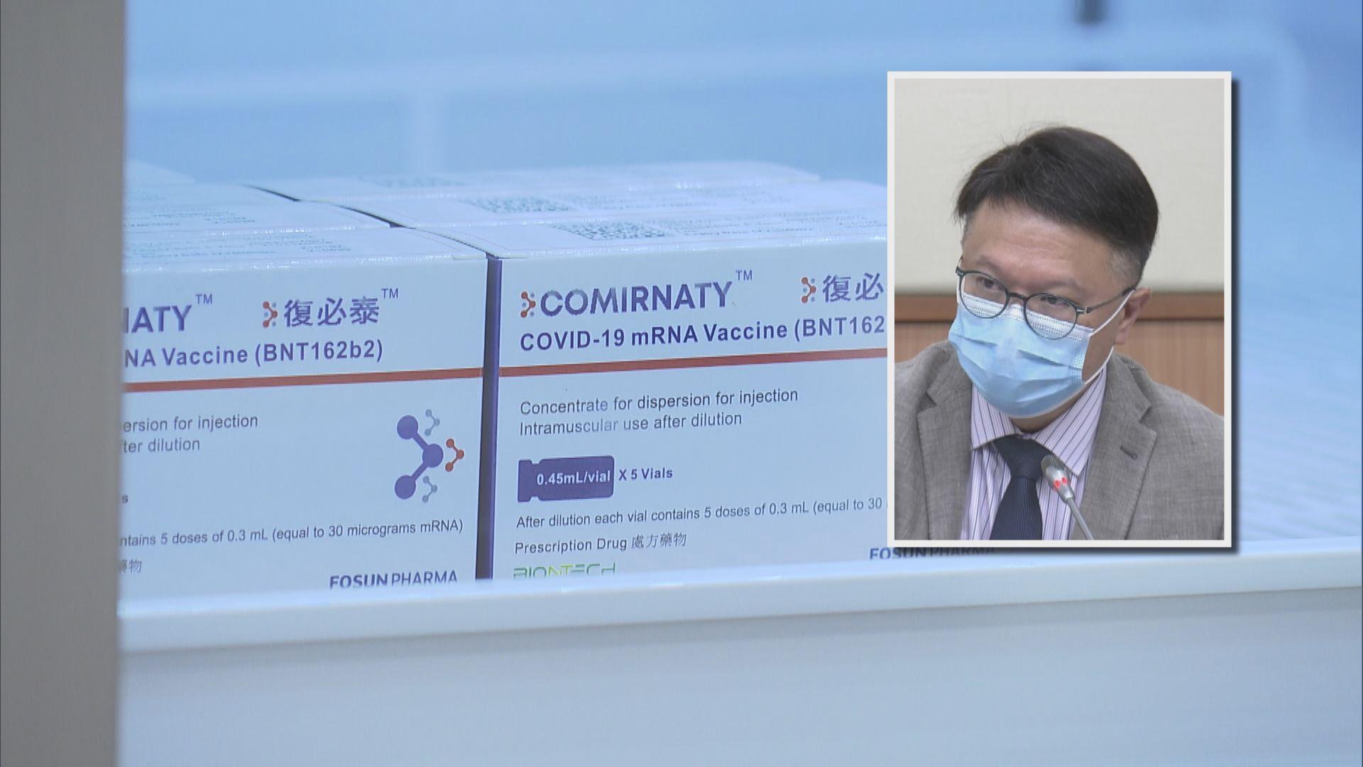 許樹昌:只要變種病毒株無流入社區 毋須採購其他疫苗