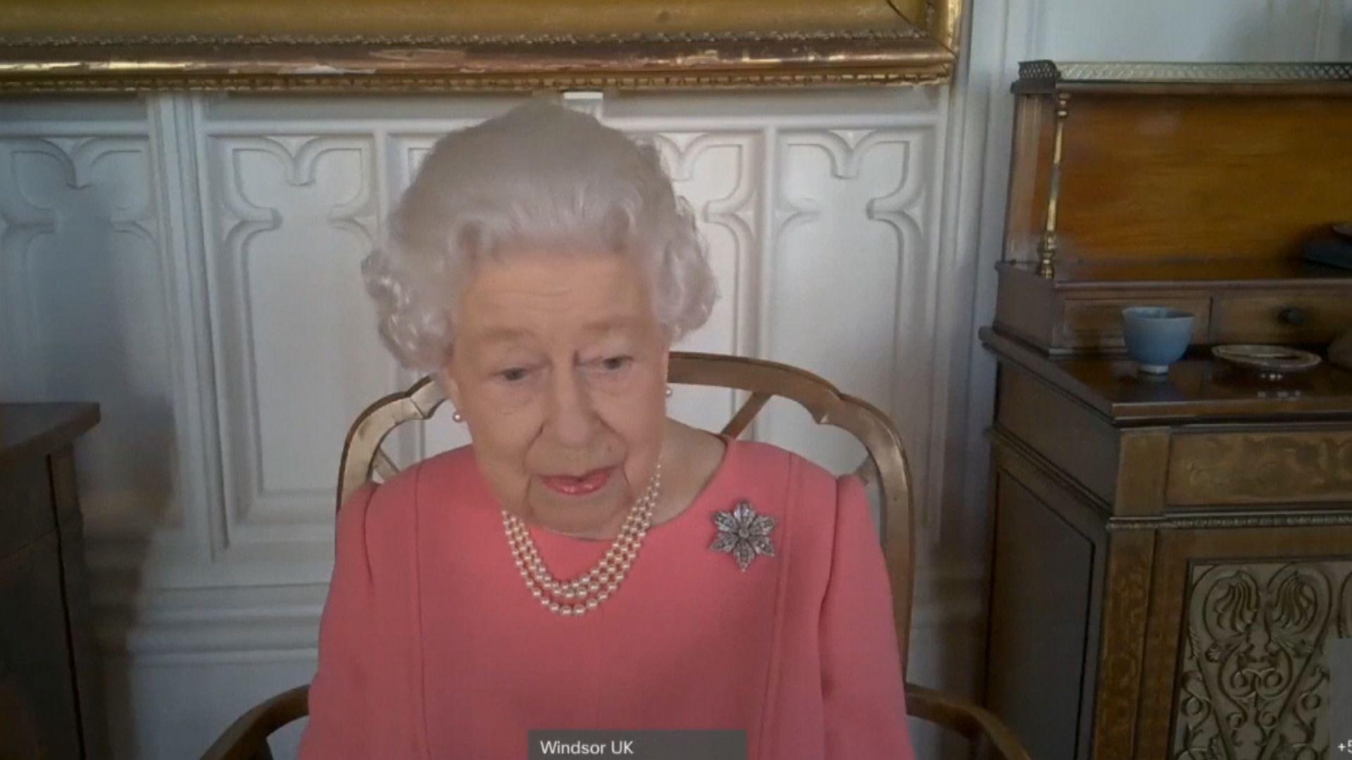 英女王籲民眾接種新冠疫苗