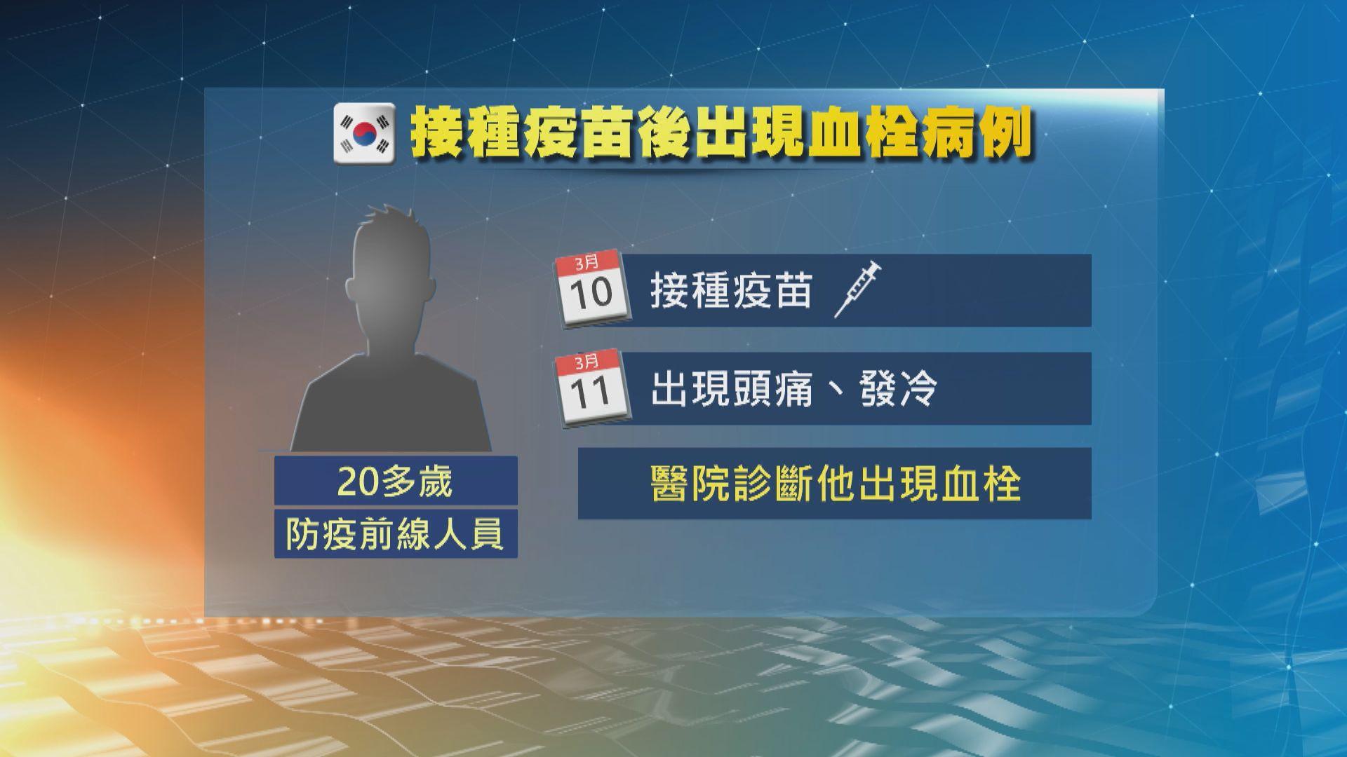 南韓男子接種阿斯利康疫苗後出現血栓 當局調查是否長期病患