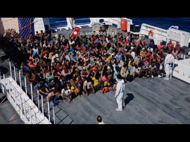 大量難民繼續湧入意大利及希臘