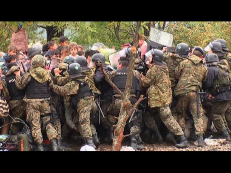 馬其頓警方與難民再爆衝突