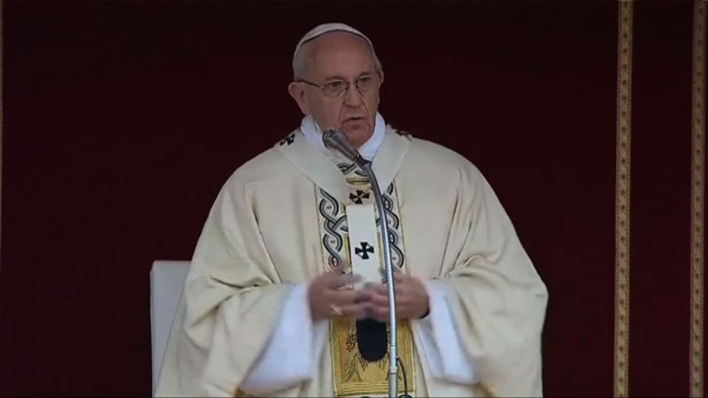 教宗主持復活節彌撒為敘國民眾祝禱