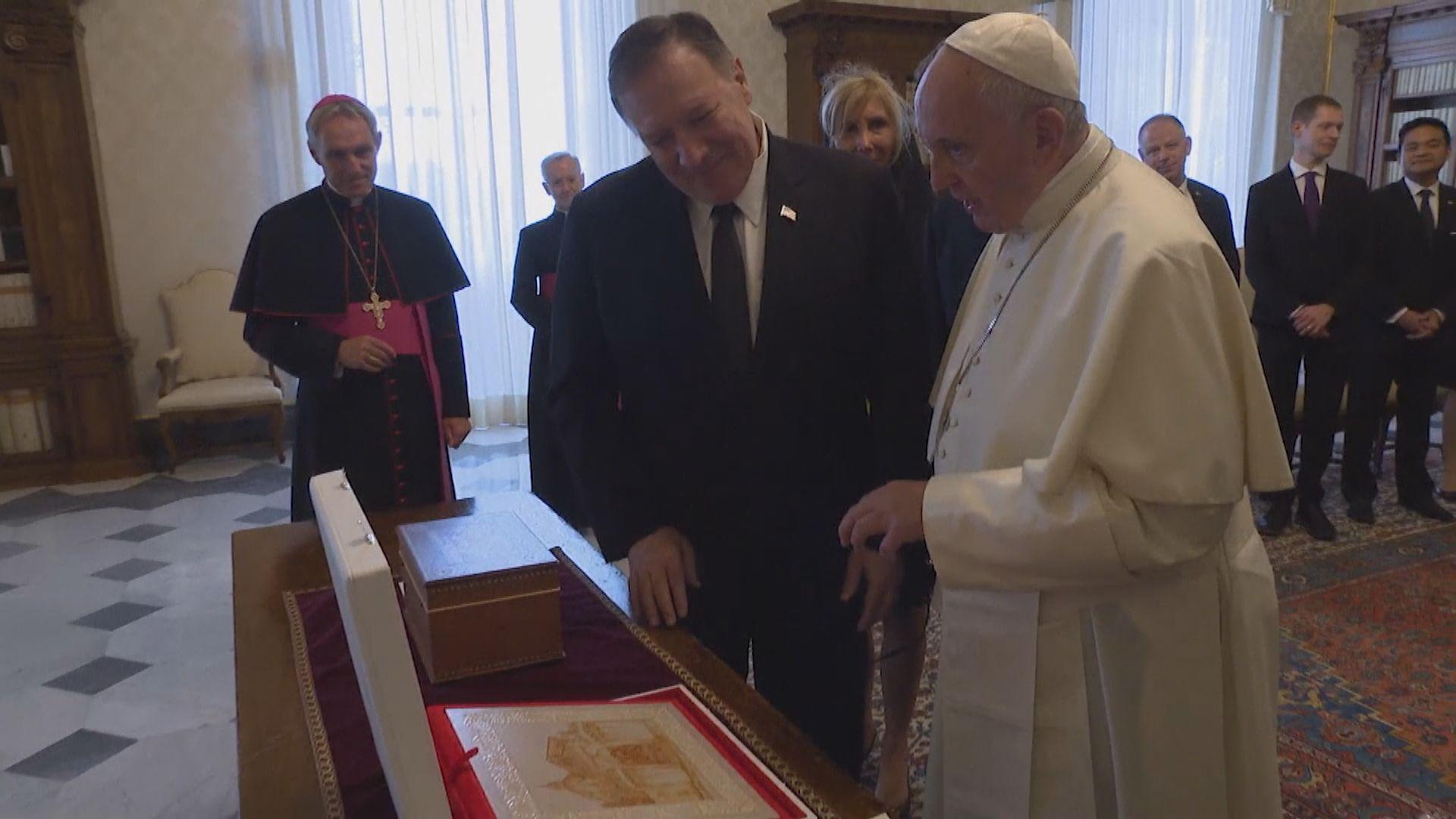 蓬佩奧促教廷與美國一起譴責中國違反宗教自由情況