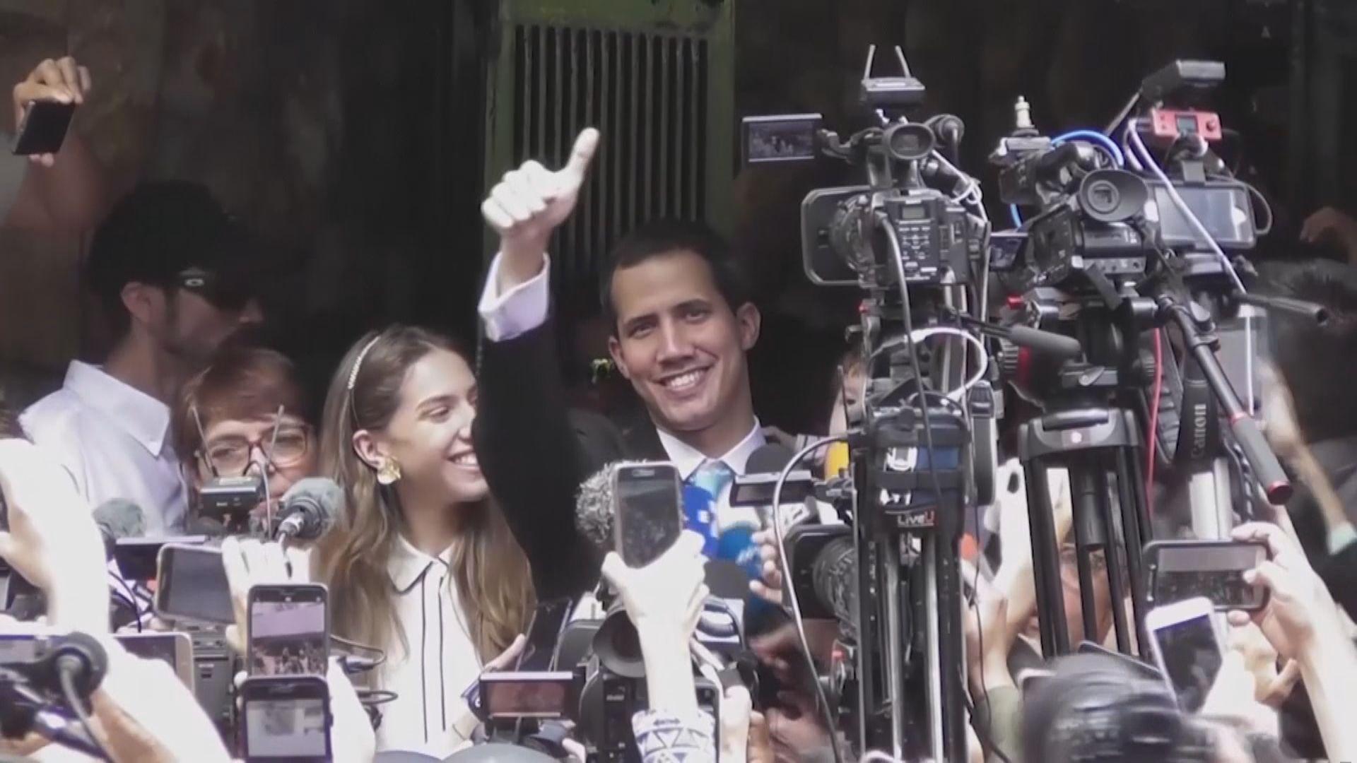 委內瑞拉反對派領袖瓜伊多冀軍方支持