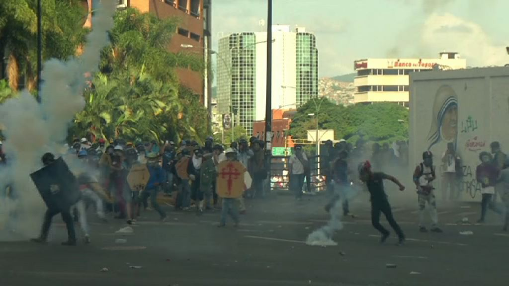 委內瑞拉反政府示威第五十日再爆衝突