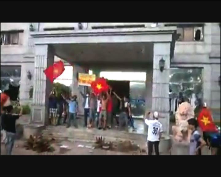 越反華示威釀2台商受傷