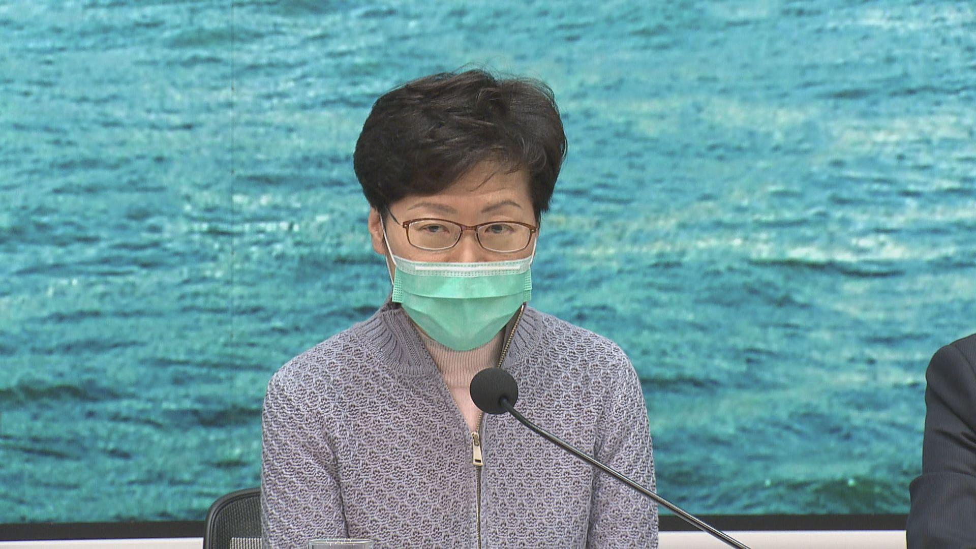 林鄭月娥:違檢疫令人士將不予警告即時檢控