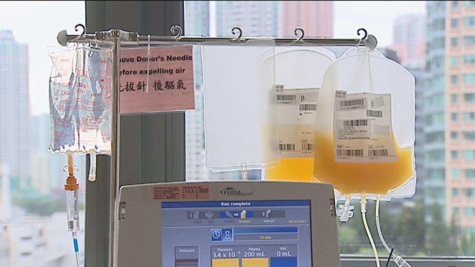 女患者接受血漿治療後病毒量大減九成九