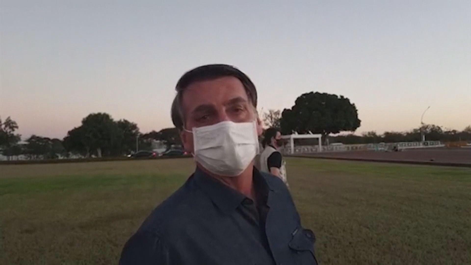 巴西總統再接受病毒測試結果仍呈陽性