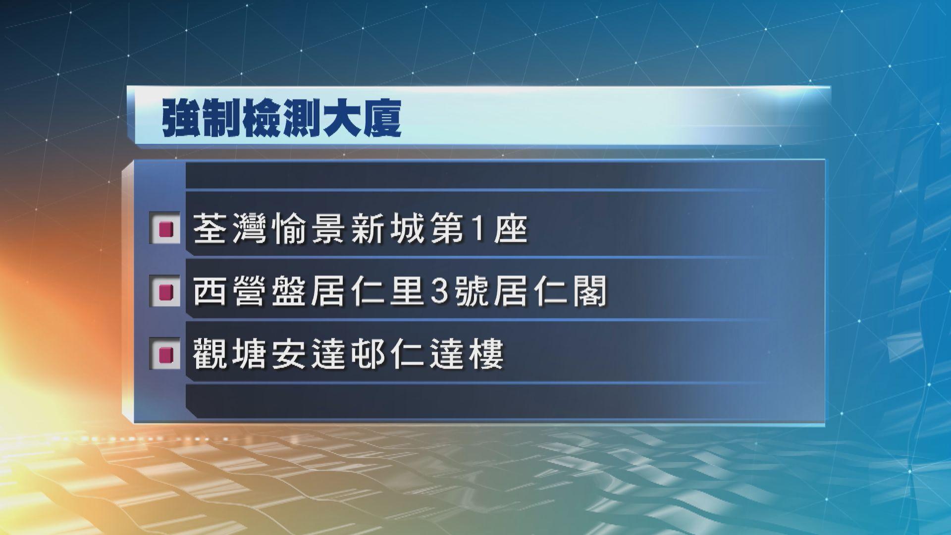 政府刊憲 三幢大廈及兩個工作場所納強檢名單