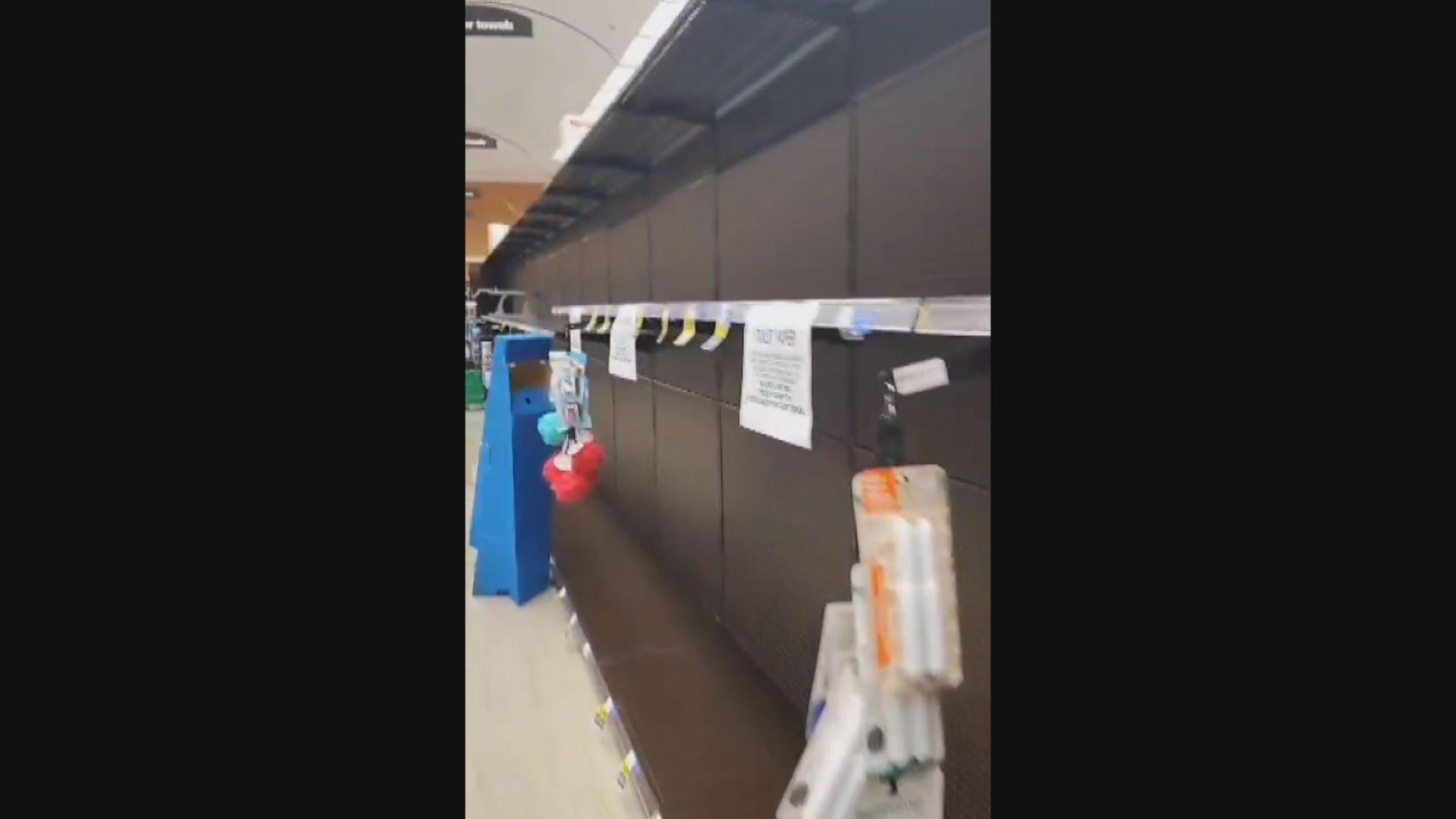 【居家令】加州港人指超市有搶購潮 有警員勸市民回家