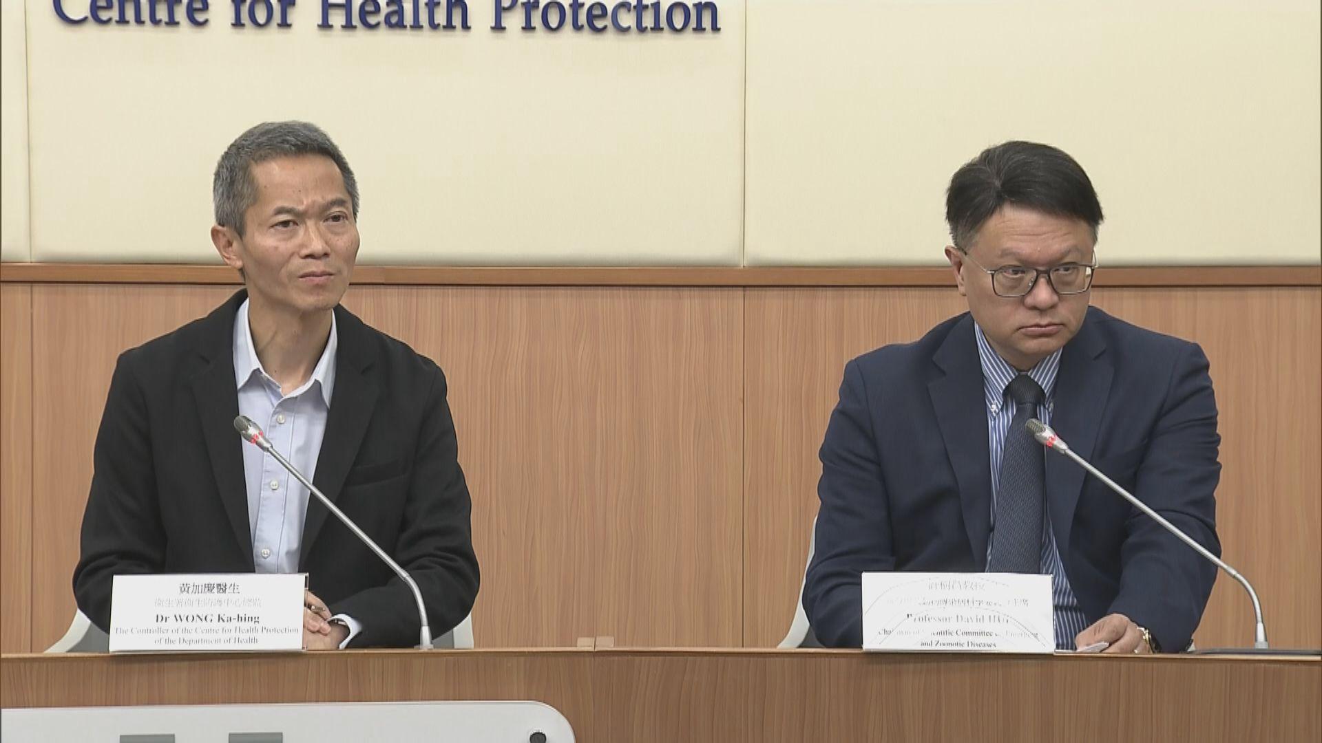 本港新增兩宗個案對新型冠狀病毒初步呈陽性反應