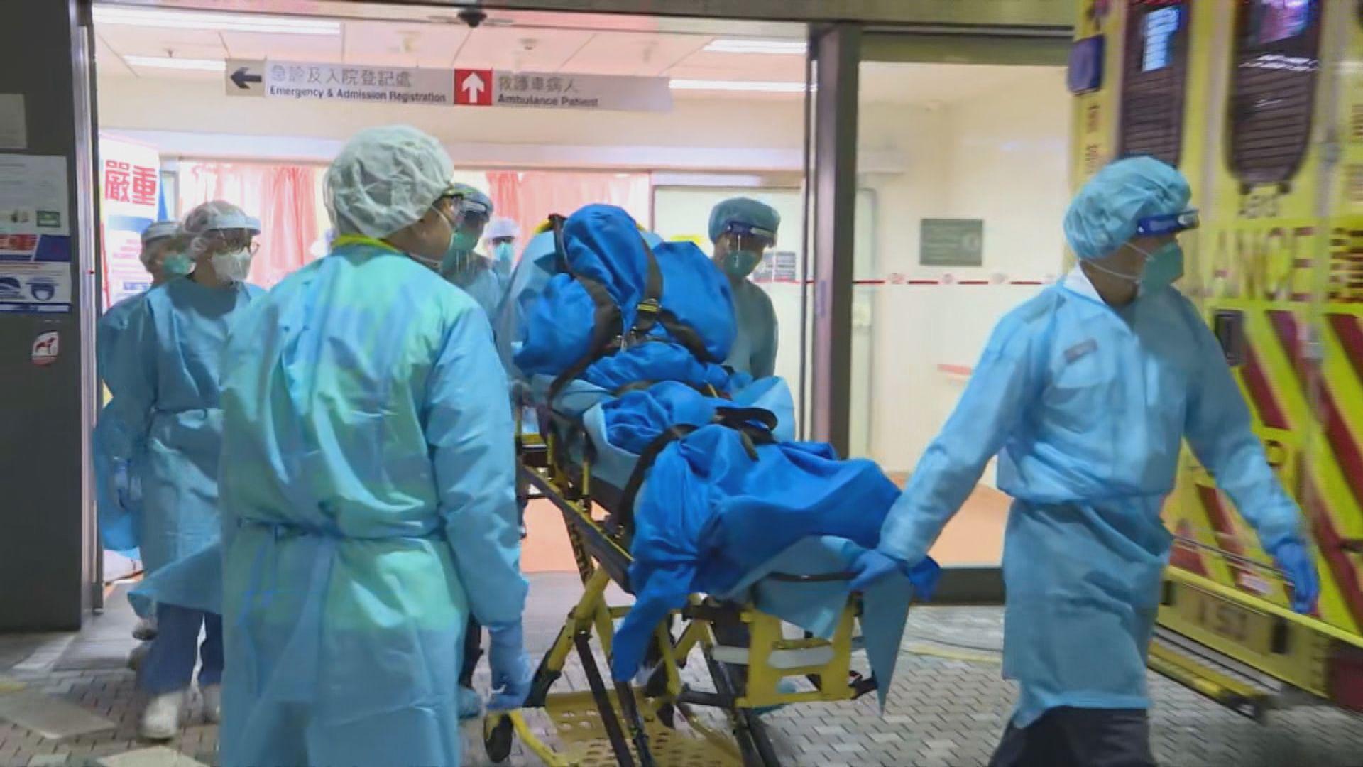 據了解屯門醫院懷疑個案女患者居住內地