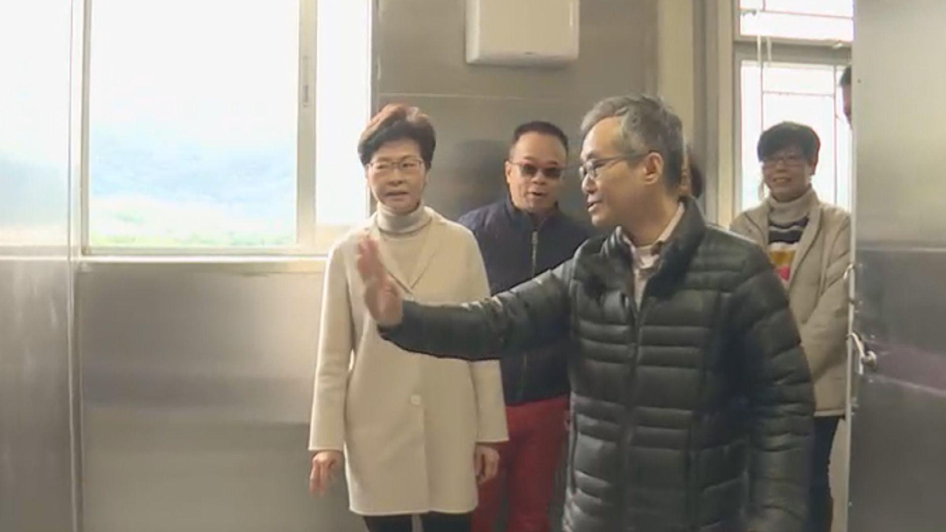 林鄭月娥視察八鄉少年警訊中心改建